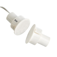 Recessed Steel Door Reed Switch, 25mm, White