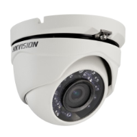 Hikvision TVI Outdoor Dome Camera, HD1080p, 20m IR, 12 VDC, IP66, Fixed 2.8mm Lens