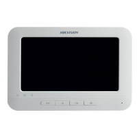 Hikvision 7 Inch Room Station, Touchscreen, 8ch Alarm, 800 x 480, PON, White