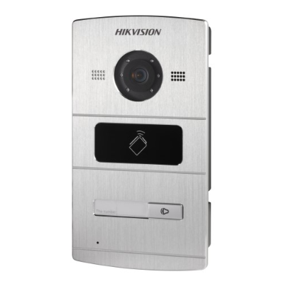 Hikvision Villa Door Station, 1 Button, Aluminium, PON, HD720P, IP65