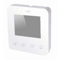 IIS Villa Series 4 Inch Room Station, White, max 2 doors and 4 rooms