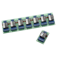 Dual 10 Amp Passive Relay Board, Connected strip of 8
