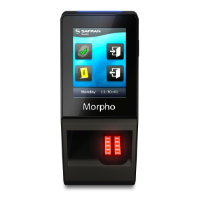 Morpho Sigma Lite Bio Only Reader with Display for Time and Attendance, 500 Users