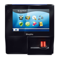 Morpho Sigma Bio Finger Scan Reader with Display, 5000 Users