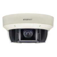 Hanwha Wisenet 20MP Outdoor 360 Multi-sensor Camera, 4x 5MP at 30fps, 3.6-9.4mm lens