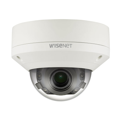 Hanwha Wisenet 4K Outdoor Dome Camera, H.265, 30fps, 120dB WDR, 30m IR, 4.5-10mm