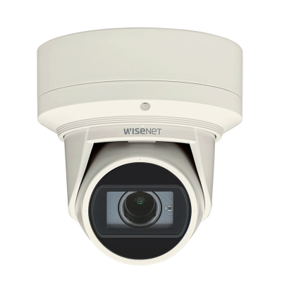 Hanwha Wisenet 4MP Outdoor Flateye Camera, H.265, 20fps, 120dB WDR, 30m IR, 3.2-10mm